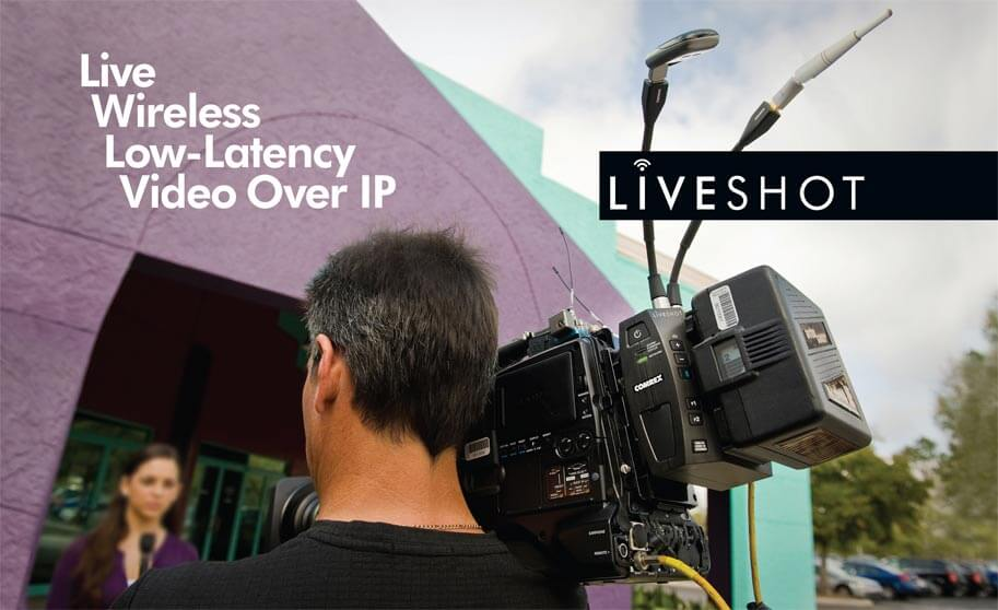 LiveShot portable IP video codec with bonded cellular modems