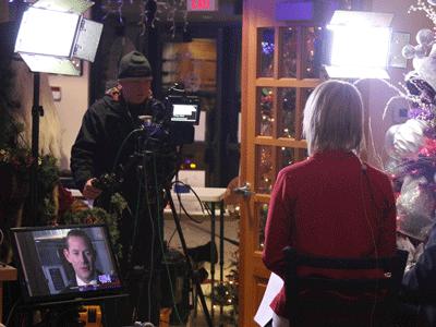 LiveShot broadcast with WDAZ at Santa's Village