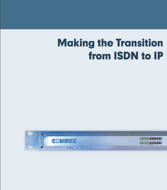 Cover of Comrex eBook on ISDN to IP