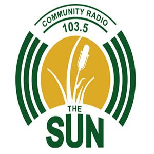 The Sun 103.5 community radio station logo