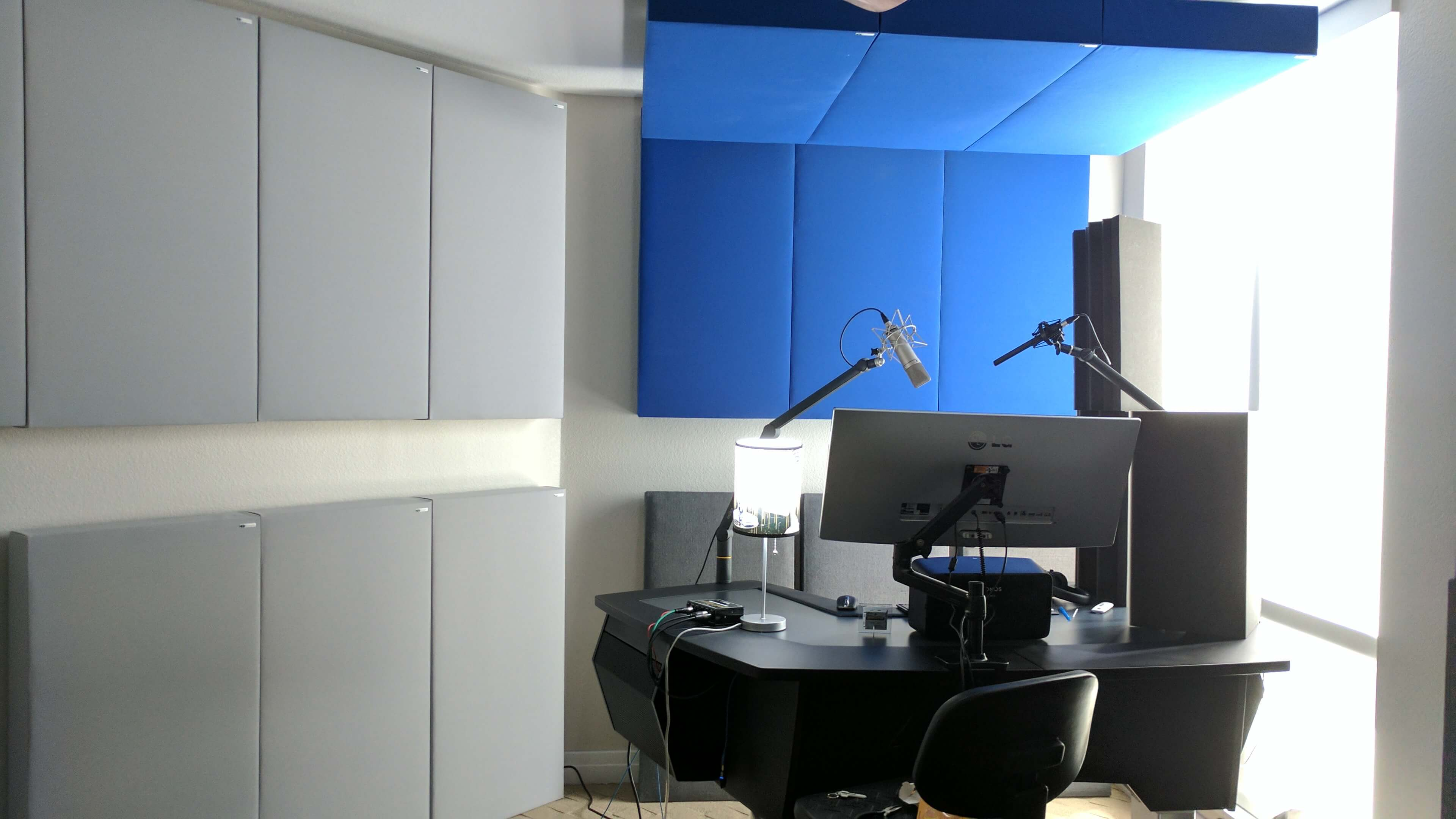 home studio of voice-over talent Sean Caldwell