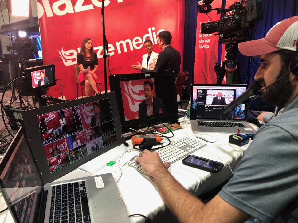 Comrex's CrossLock feature within LiveShot assists TheBlaze crew with network management when they are in the field.