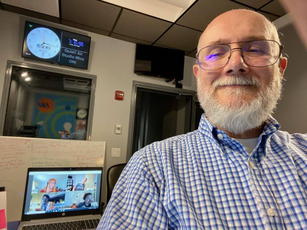 Tom Barclay, running the board for GPB's Spring Fund Drive in June