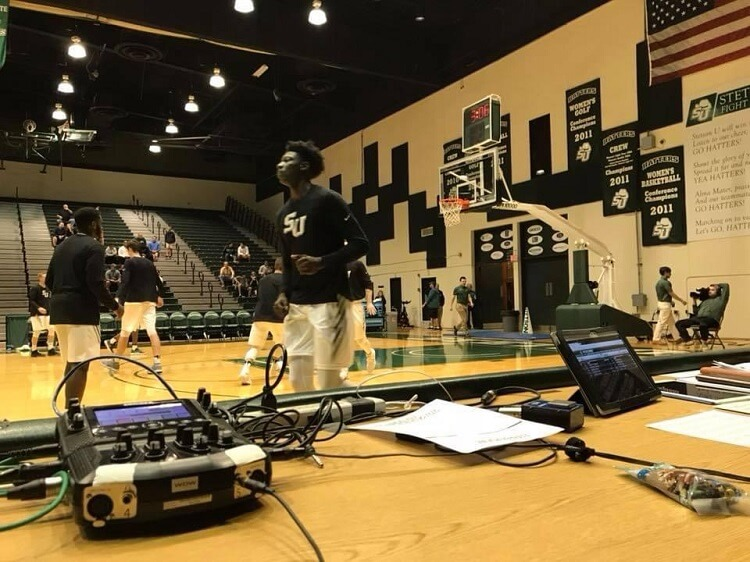 Comrex ACCESS NX providing live courtside coverage at a Stetson University basketball game