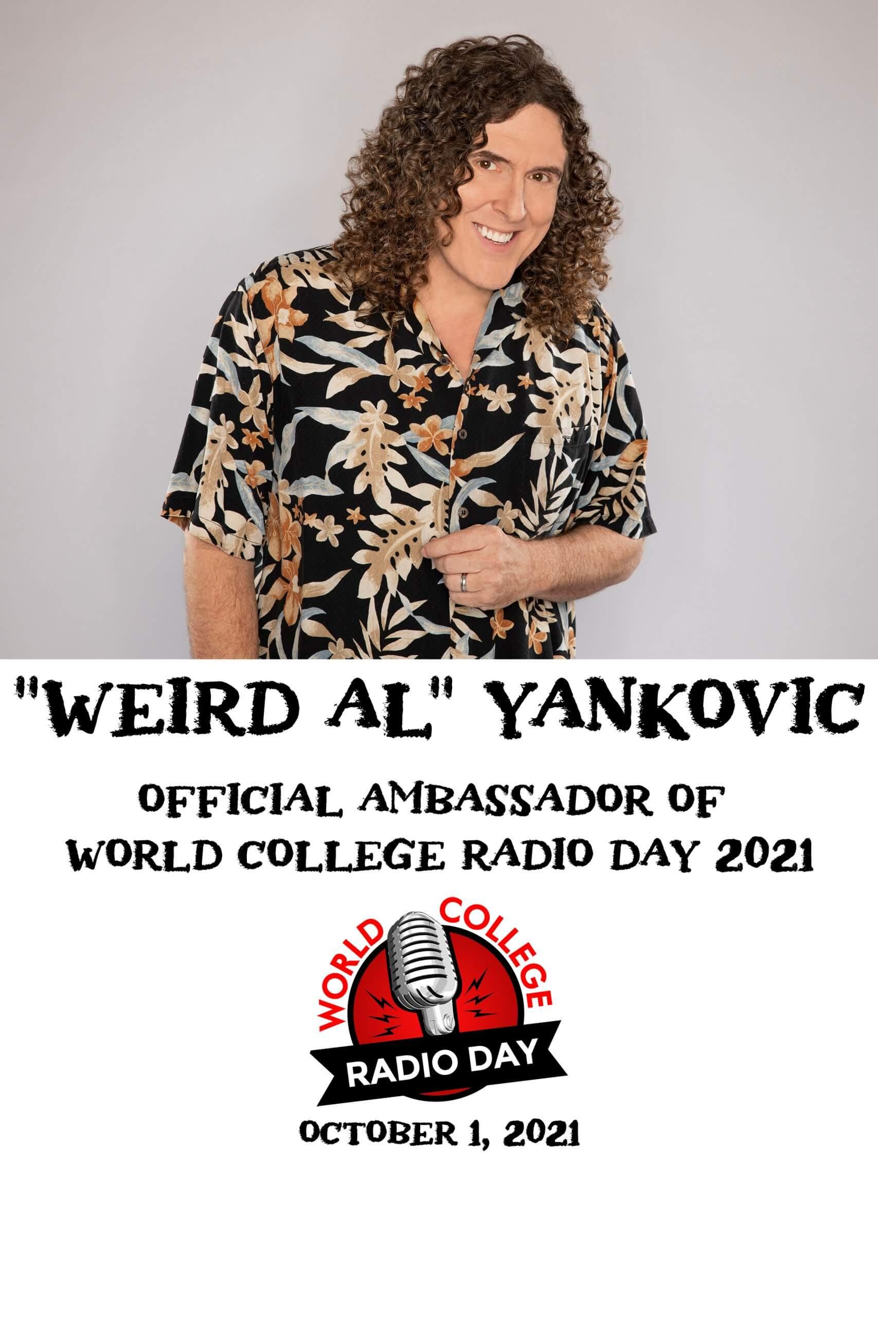 """Weird Al"" Yankovic official ambassador of World College Radio Day 2021"